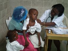 FBSAHaiti Medical Clinic and Nursing Program - children's check up
